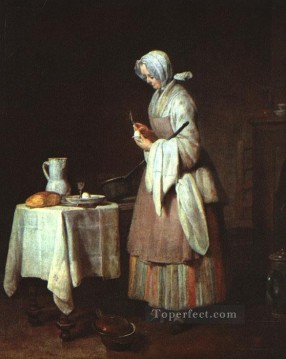 Still life Painting - The Attentive Nurse Jean Baptiste Simeon Chardin still life